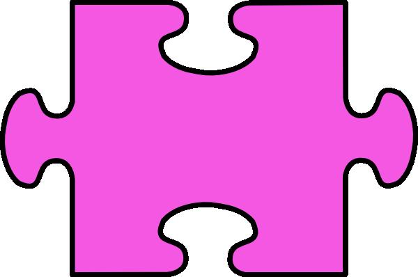 600x398 Purple Jigsaw Clip Art