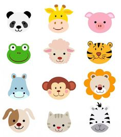 236x268 Animal Faces Clipart Clip Art, Zoo Jungle Farm Barnyard Forest