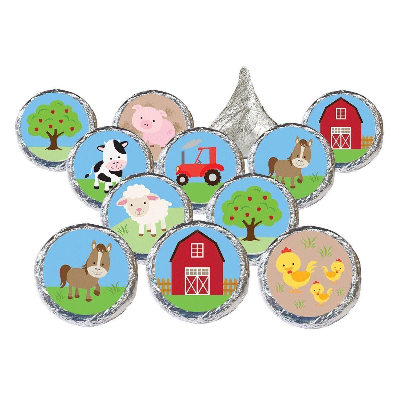 1500x1500 Barnyard Party Farm Animals Stickers (Set Of 324) Barnyard Party