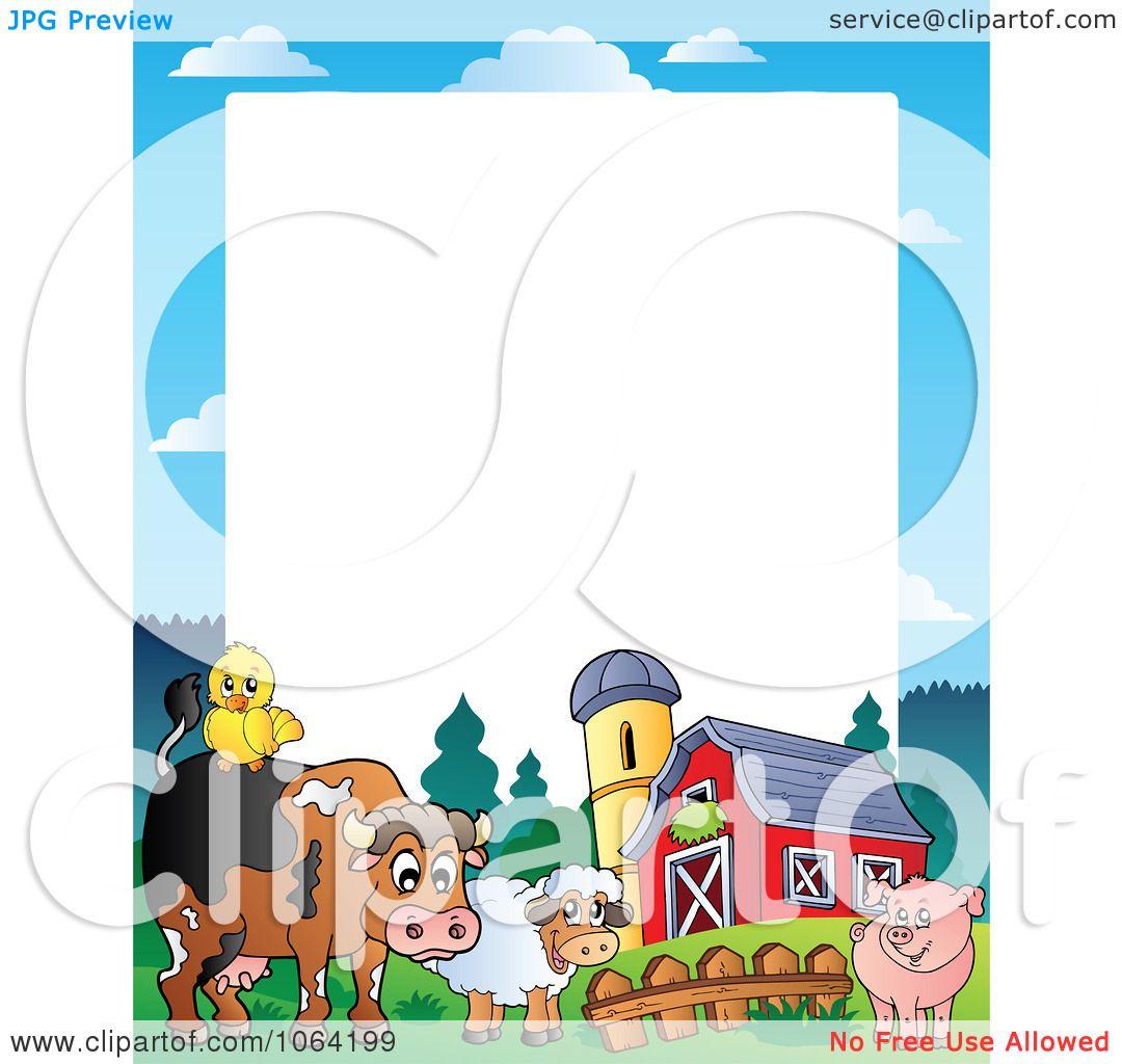 1080x1024 Clipart Barnyard Animal Frame 1
