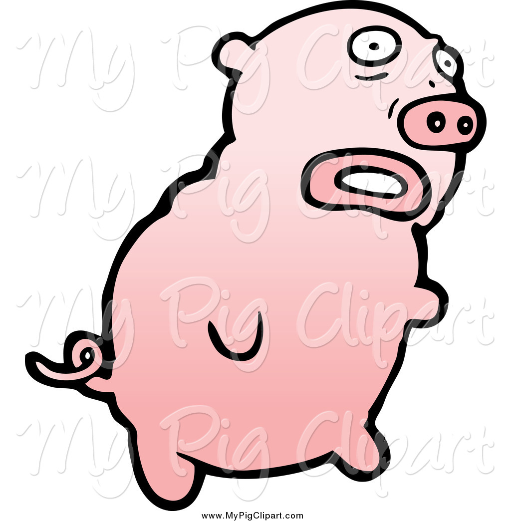 1024x1044 Swine Clipart Of A Scared Pig By Lineartestpilot