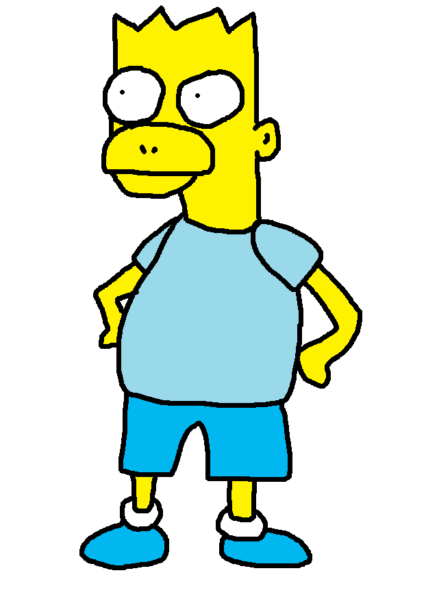622x874 Blue Shirt Bart Simpson By Mysiliconsoul