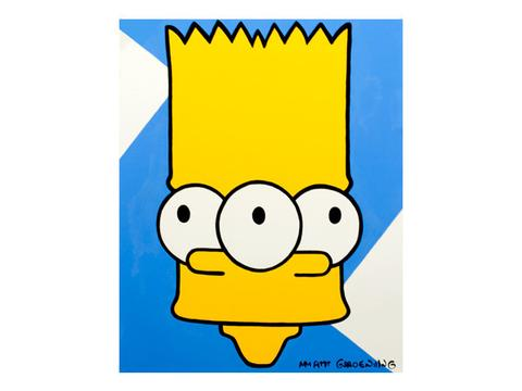 480x360 Mind Bending Bart Simpson Pop Art Painting For Sale Palm Treat