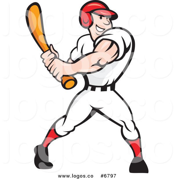 600x620 Baseball Player Swinging Bat Clip Art