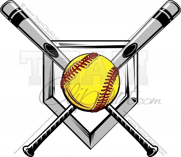 590x513 Best Photos Of Softball Bat And Ball Clip Art