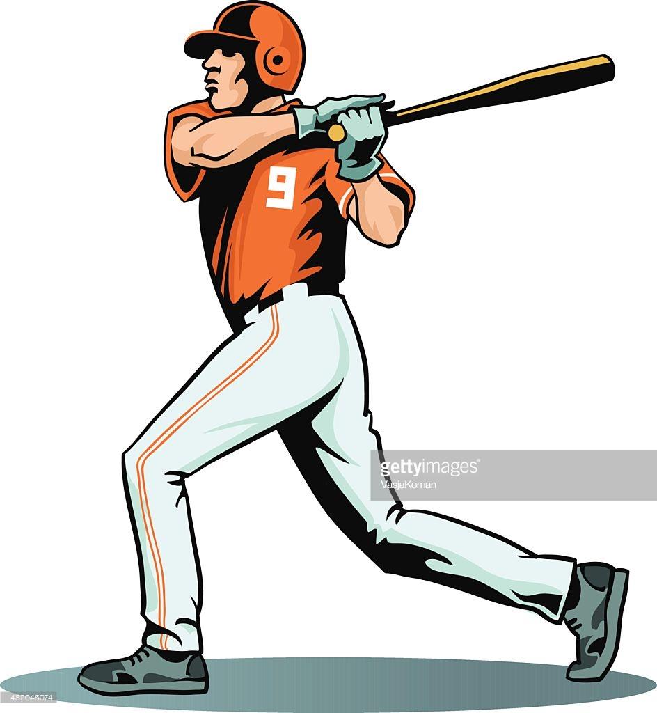 944x1024 Baseball Player Swinging Bat Clip Art