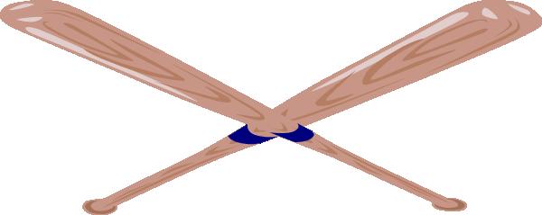 600x239 Baseball Bat Clipart Crossed