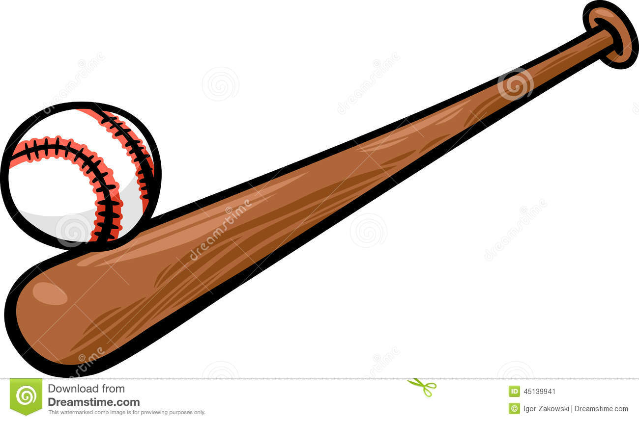 1300x860 Endorsed Picture Of Baseball Bat And Ball Cartoon Clip Art Stock