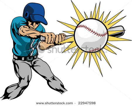 450x361 Picture Of A Batter Hitting The Baseball For A Home Run In This