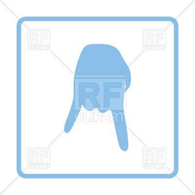 400x400 Baseball Catcher Gesture Down Icon Royalty Free Vector Clip Art