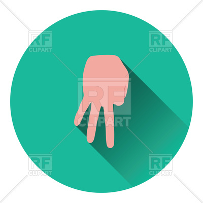 400x400 Baseball Catcher Gesture Icon, Flat Color Design Royalty Free