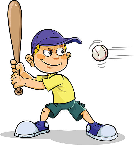 564x612 Baseball Players Clipart