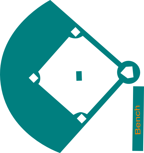 564x598 Baseball Field Blue Clip Art