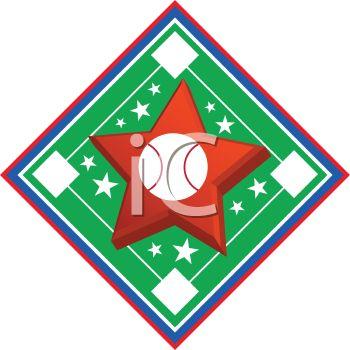 350x350 Royalty Free Clip Art Image Baseball Diamond