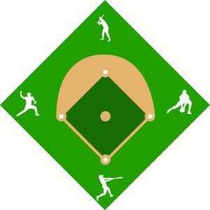 300x300 Baseball Diamond Clipart Image