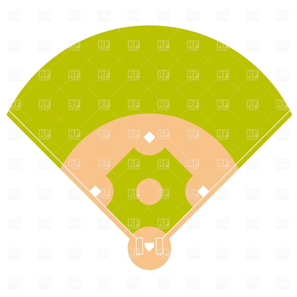 1200x1200 Baseball Field Plan Drawing Free Download Vector Clip Art Image