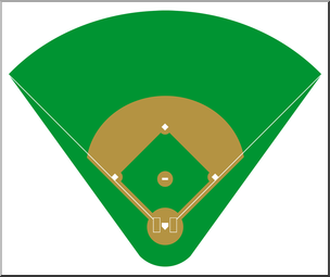 304x255 Clip Art Baseball Field 1 Color 2 I Abcteach