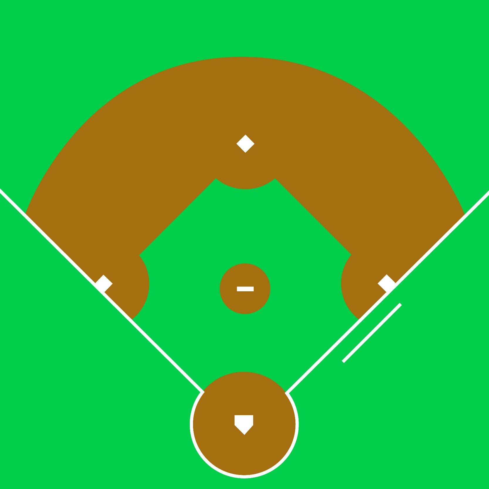 1667x1667 Drawing Of Baseball Field Black And White Baseball Diamond Free