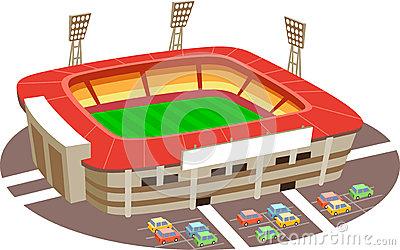 400x250 Rugby Stadium Clipart