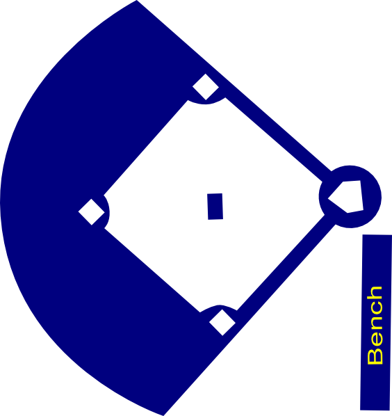 564x598 Baseball Field Clipart Baseball Field Navy Clip Art