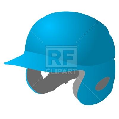 400x400 Baseball Player's Helmet Free Download Vector Clip Art Image