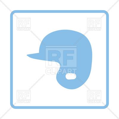400x400 Blue Frame Design Of Baseball Helmet Icon Royalty Free Vector Clip