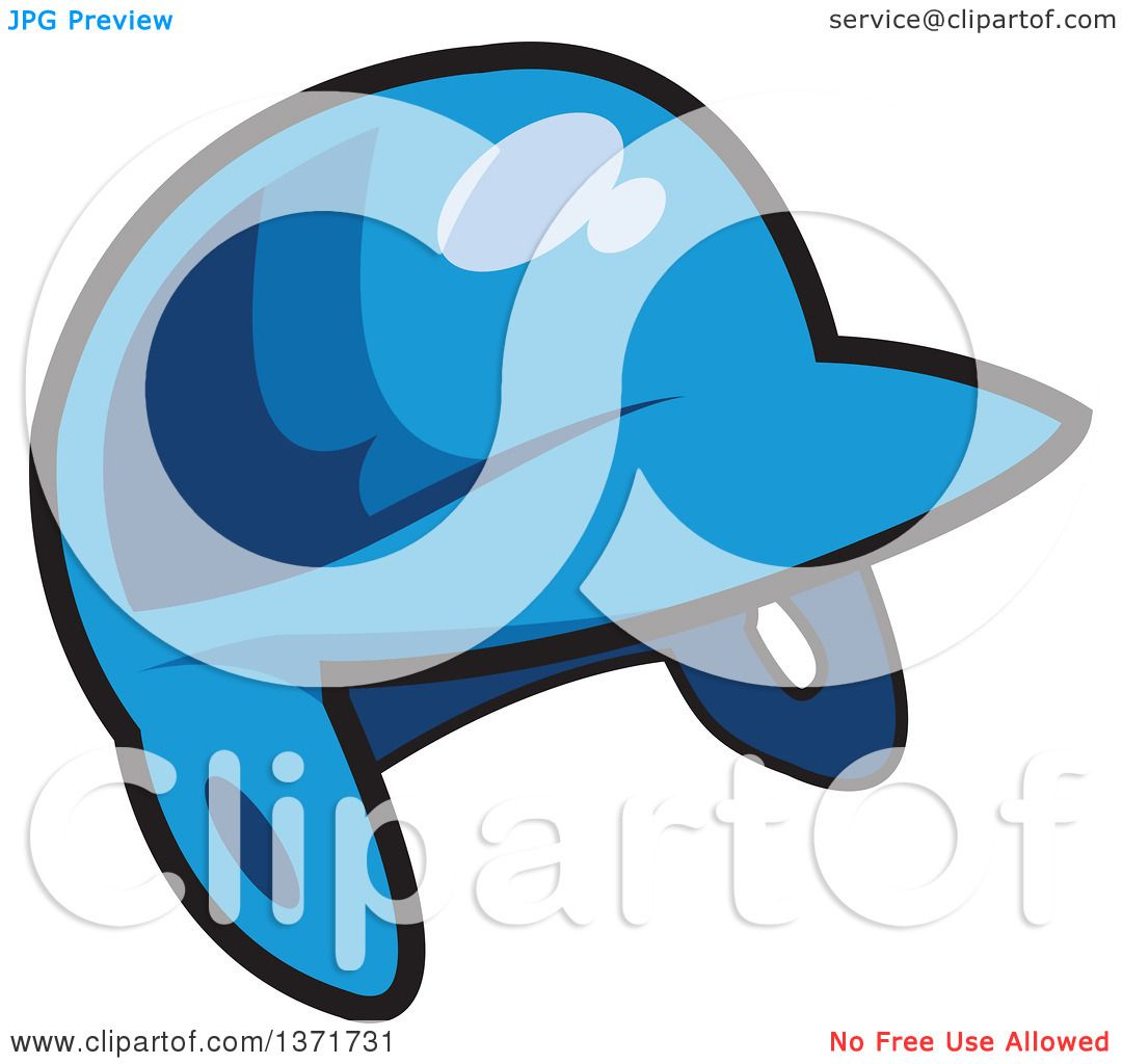 1080x1024 Clipart Of A Blue Baseball Batters Helmet