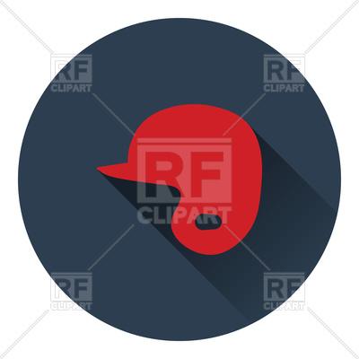 400x400 Flat Color Design Of Baseball Helmet Icon Royalty Free Vector Clip
