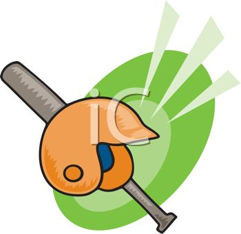 350x341 Picture Of A Baseball Bat And A Helmet In A Vector Clip Art