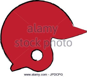 360x320 Baseball Helmet Icon Sport Head Protection Stock Vector Art
