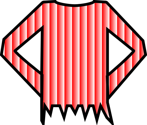 600x510 Red Striped Shirt Clip Art