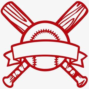 300x300 Baseball Logo, Creative Logo, Baseball, Red Baseball Logo Png