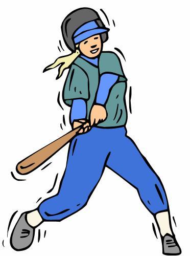 372x500 Baseball Player Clipart Free