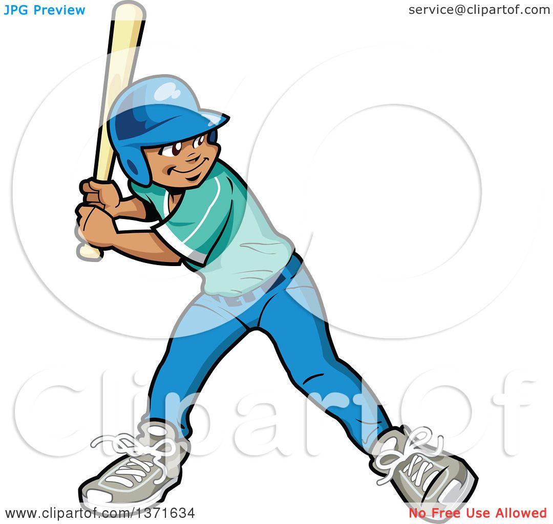 1080x1024 Clipart Of A Black Baseball Player Boy Batting