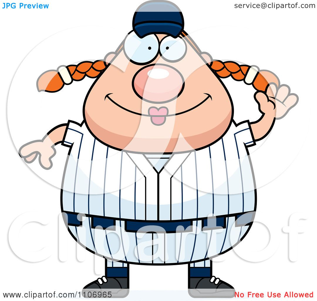 1080x1024 Clipart Waving Female Baseball Player