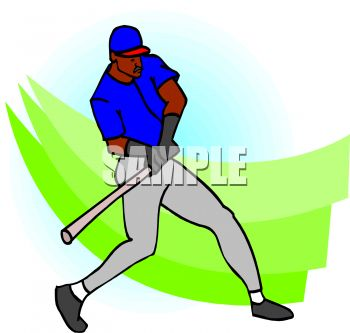 350x333 Royalty Free Clip Art Image African American Baseball Player