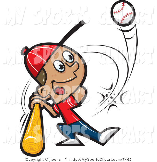 600x620 Sports Clip Art Of A Baseball Player Hitting A Ball By Jtoons