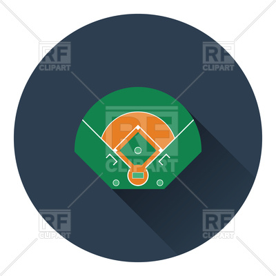 400x400 Baseball Field Aerial View Icon Royalty Free Vector Clip Art Image