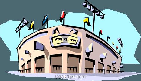 480x276 Baseball Stadium Royalty Free Vector Clip Art Illustration