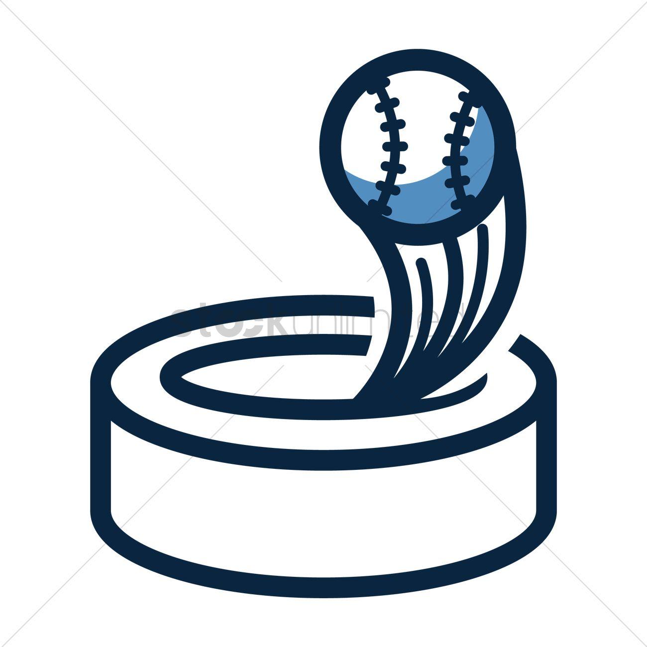 1300x1300 Baseball Stadium And Homerun Icon Vector Image