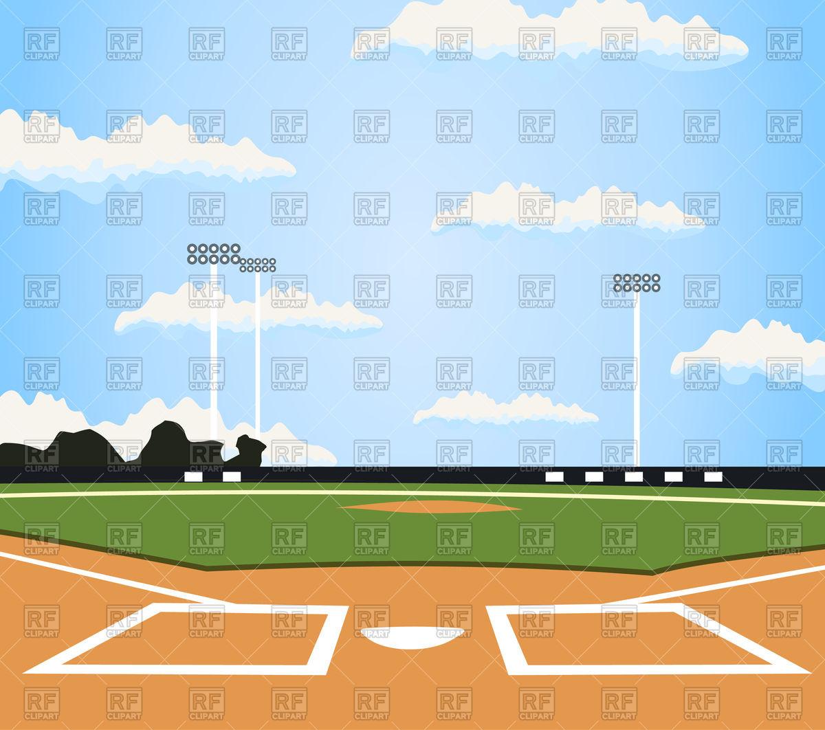 1200x1062 Field For Baseball Royalty Free Vector Clip Art Image