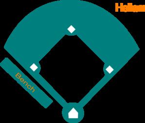 298x252 Baseball Field Blue Clip Art