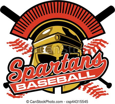 450x406 Spartans Baseball Team Design With Mascot Helmet And Crossed