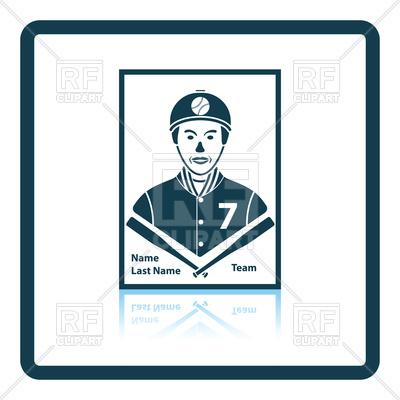 400x400 Baseball Card Icon Royalty Free Vector Clip Art Image