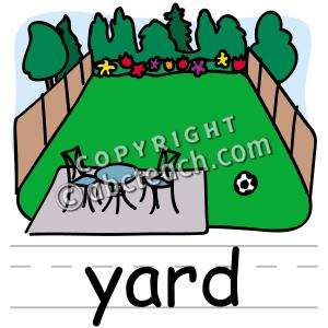 300x300 Clip Art Basic Words Yard Clipart Panda