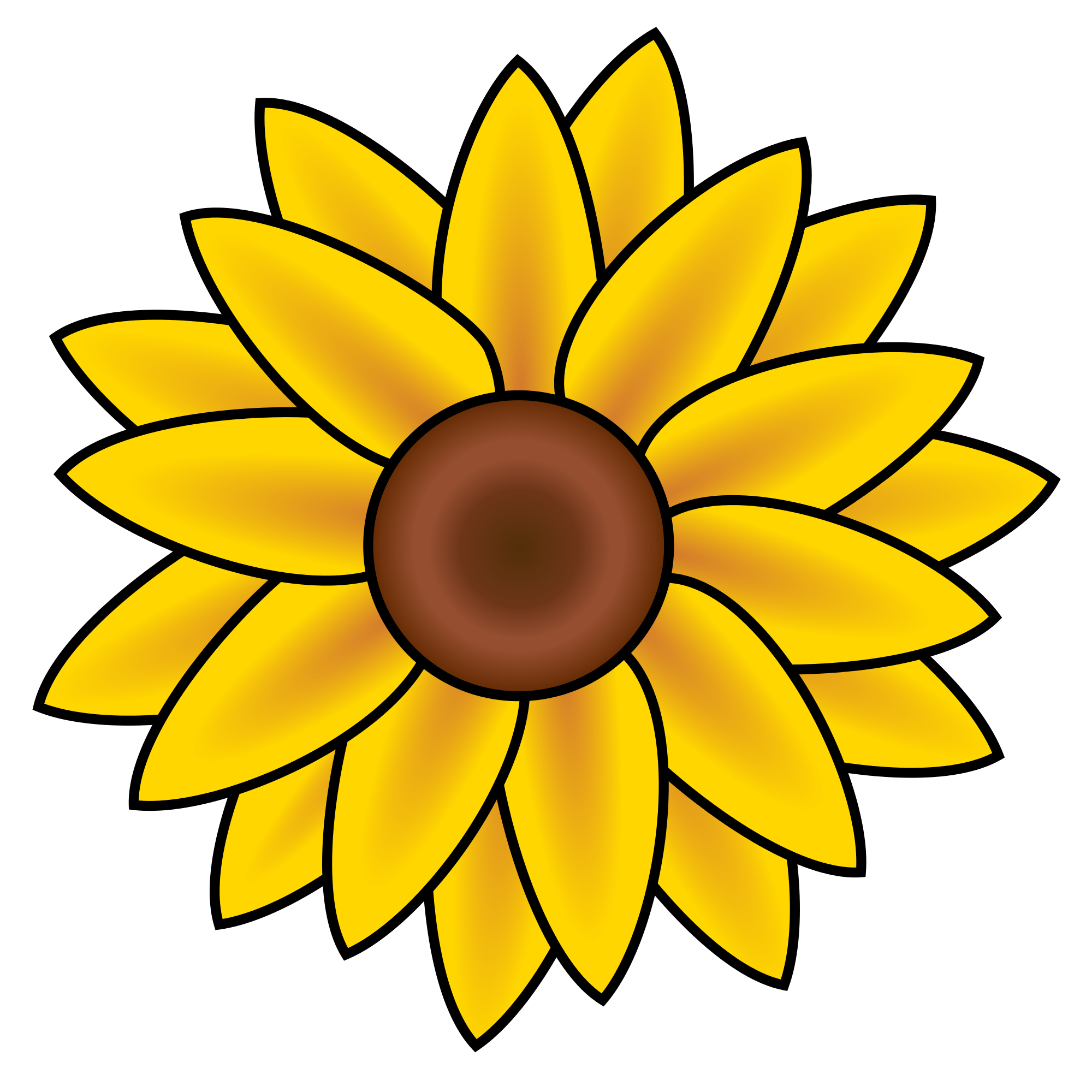 2000x2000 Filesunflower Clip Art.svg