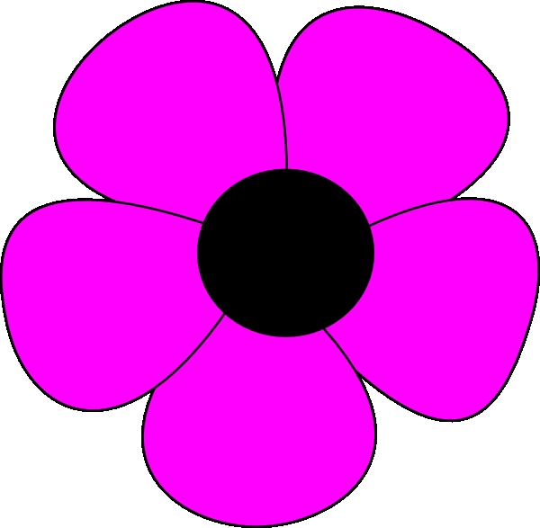 600x587 Flower Clipart Easy Simple Flower Clip Art At Clker Vector Clip