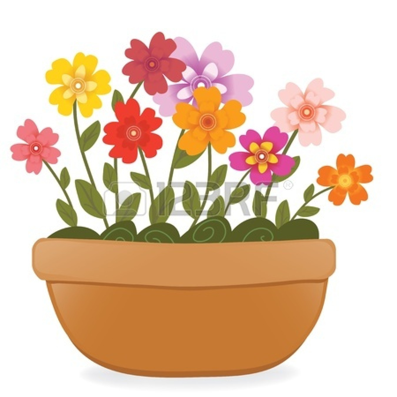 1350x1350 Flower Pot Clipart