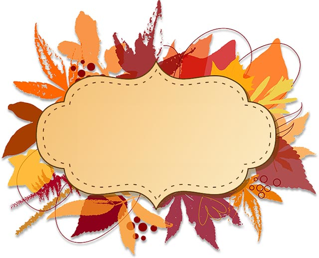 640x519 Free Thanksgiving Borders