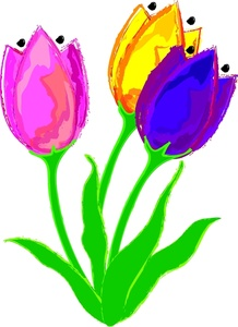 218x300 Lofty Design Tulip Flower Clipart Tulips Flowers